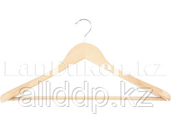 Вешалка деревянная для верхней одежды с антискользящей перекладиной ELFE 92915 (002)