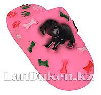 """Игрушка для собак с пищалкой """"Тапка"""" розовая"""