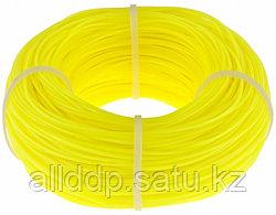 Леска строительная 100 метров D 1 мм цвет желтый Сибртех 84837 (002)