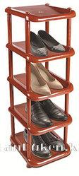 Этажерка для обуви малая 5 полок коричневая 08000