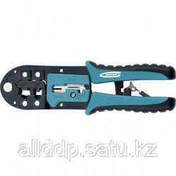 Клещи для обжима телефонных и компьютерных клемм RJ-45,6P,8P и RJ-11/12,6P,8P GROSS 17719 (002)