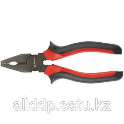 Плоскогубцы Black Nickel 180 мм комбинированные двухкомпонентные рукоятки MATRIX 16980 (002)