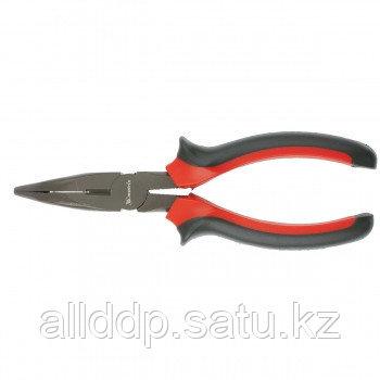Длинногубцы Black Nickel 200 мм изогнутые двухкомпонентные рукоятки MATRIX 17462 (002)
