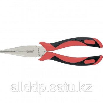 Длинногубцы GRAND 160 мм прямые никелированные двухкомпонентные рукоятки MATRIX 17136 (002)