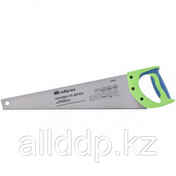 "Ножовка по дереву ""Зубец"" 450 мм 7-8 TPI зуб 2D калёный зуб 23803 (002)"
