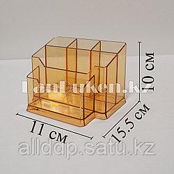 Подставка канцелярская 5 секций коричневый
