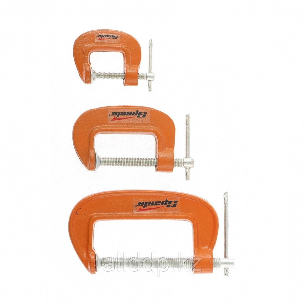 Набор струбцины G-образные 3 шт. 25-50-75 мм SPARTA 206755 (002)