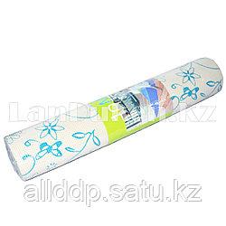 Коврик для йоги и фитнеса (йогамат) 6 мм принт цветочки