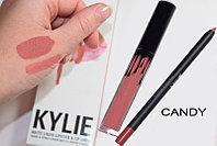 Набор матовая помада + карандаш Lip Kit от Kylie Jenner оттенок Candy K
