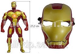 Набор детская маска и фигурка высотой 25.5 см со световыми и звуковыми эффектами Железный человек