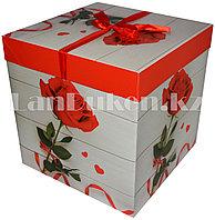Подарочная новогодняя упаковка 30х30 см (Макси) Роза