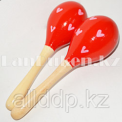 Музыкальный инструмент Маракасы красные 2 штуки