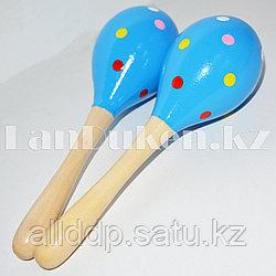 Музыкальный инструмент Маракасы синие 2 штуки