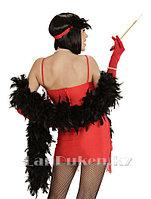Боа из перьев 210 см для вечеринок черный