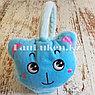 Меховые наушники детские с кошками голубые, фото 4