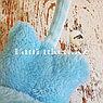 Меховые наушники детские с кошками голубые, фото 5