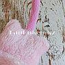 Меховые наушники детские с кошками светло-розовые, фото 4