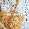 Меховые наушники детские с кошками коричневые, фото 5