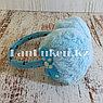 Меховые наушники детские с бантиком голубые, фото 2