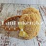 Меховые наушники детские с бантиком коричневые, фото 2
