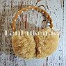 Меховые наушники детские с бантиком коричневые, фото 3