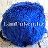 Меховые наушники с ободком сзади синие, фото 4
