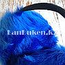 Меховые наушники с ободком сзади синие, фото 5
