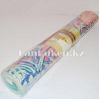Коврик для йоги и фитнеса (йогамат) 3 мм разноцветный принт листья