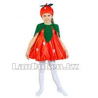 Карнавальный костюм детский овощи и фрукты 24-32 р (клубника)