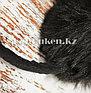 Меховые наушники с бантиком украшенный пайетками 18815-13 черные, фото 7
