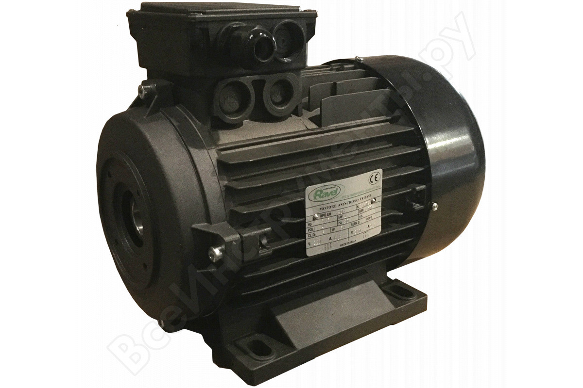 Электродвигатели Италия (RAVEL) Мотор H100, HP 4, 2P MA AC KW 3,0 2P