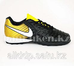 Футбольные бутсы (сороконожки) Tiempo с шиповкой TF размеры 40-44 черно-золотые 40