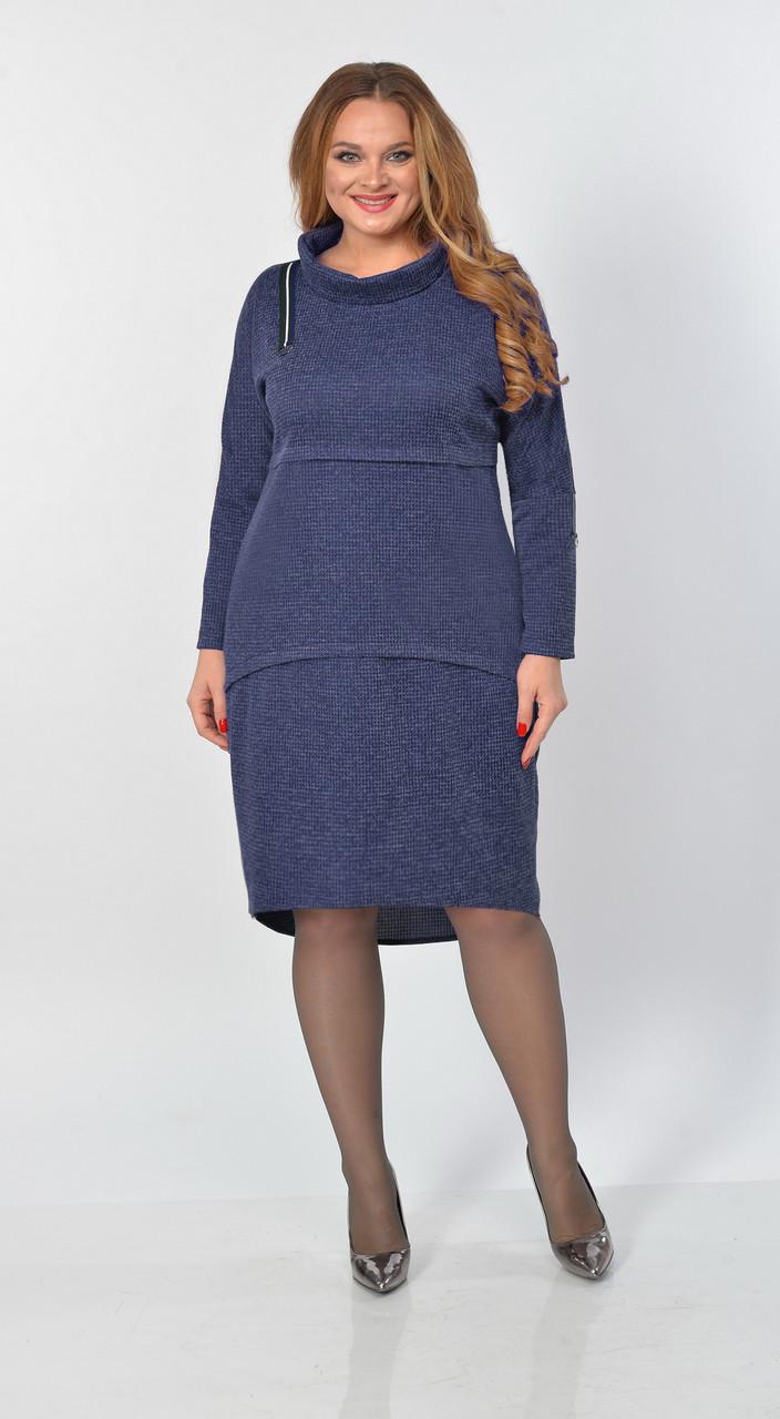 Платье Elga-645, синий, 50