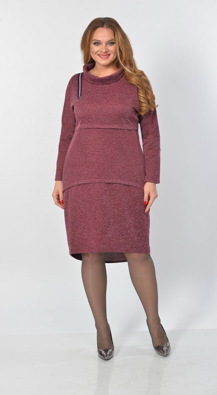 Платье Elga-645/1, бордо, 52