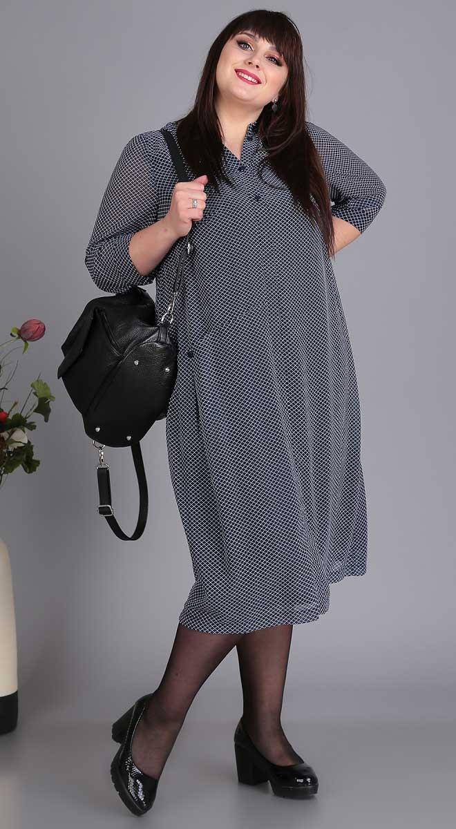 Платье Novella Sharm-3407, синий, 64