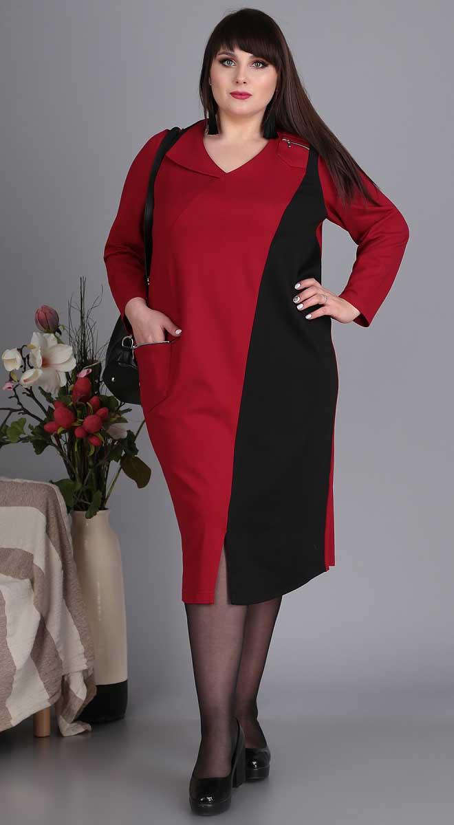 Платье Novella Sharm-3411, черно-красный, 60