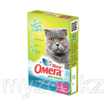 """Омега NEO лакомства с L-карнитином """"Для кастрированных кошек"""" 90 таб."""