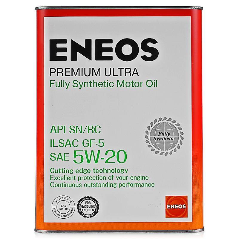 Моторное масло Eneos Premium Ultra 100% Synt. SN 5W-20 1литр