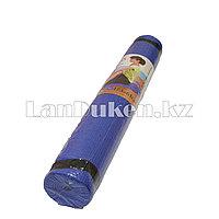 Коврик для йоги и фитнеса (йогамат) 4 мм с резинками для фиксации синий