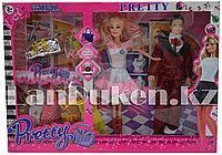Набор кукол с аксессуарами Pretty Girl семья с ребенком Бело-розовый