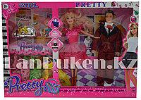 Набор кукол с аксессуарами Pretty Girl семья с ребенком Красный