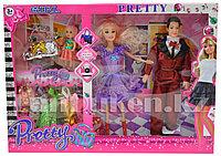 Набор кукол с аксессуарами Pretty Girl семья с ребенком Фиолетовый