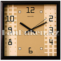 Настенные часы Салют абстракция ,бежевый деревянная рамка