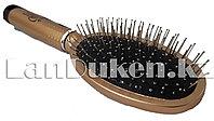Массажная расческа с металлическими зубьями (золотистые)