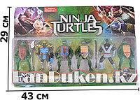 """Игровой набор фигурек """"Черепашки Ниндзя"""" с боевыми мечами, (2 боевых меча,6 фигурек,10 см)"""