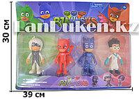 Игровой набор Герои В Масках PJ Masks (4 фигурки Аллет, Мотылек,Кэтбой и Ромео,11см)