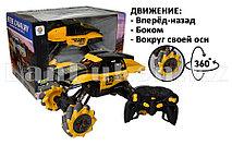 Машинка радиоуправляемая вездеход колёса 360° жёлтая с подсветкой Rock Crawler 806-10A
