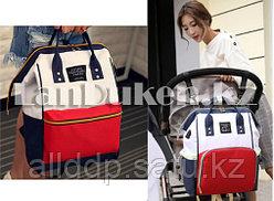 Сумка-рюкзак с боковыми карманами Living Travelling Share (красно-синий, белый)