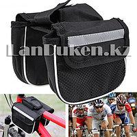 Велосипедная сумка двусторонняя со светоотражающими полосками Shimano