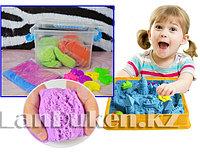 Набор кинетического песка для детей (2 кг песка, игрушки, надувная песочница) цвета и игрушки в ассортименте